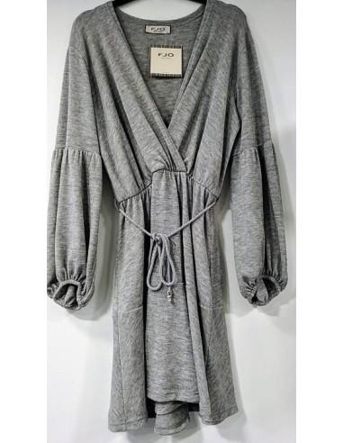 KNITWEAR DRESS WITH BELT