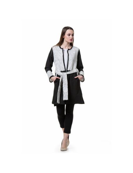 WOMEN'S SUIT WITH PIECES OF WOVEN FABRIC