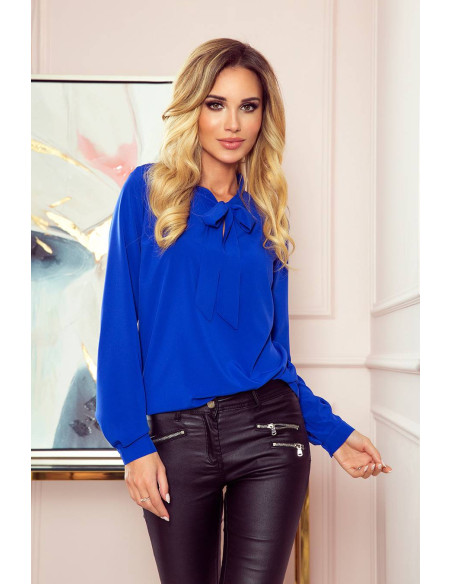 Women's Blouse Numoco with bond classic Blue
