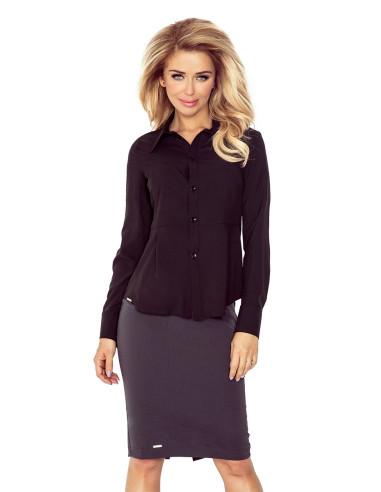 Women's Black blouse buttons MM