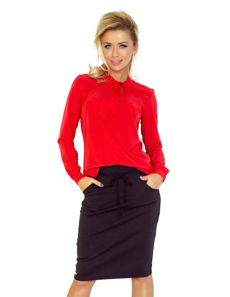Women's Blouse Numoco with bond red